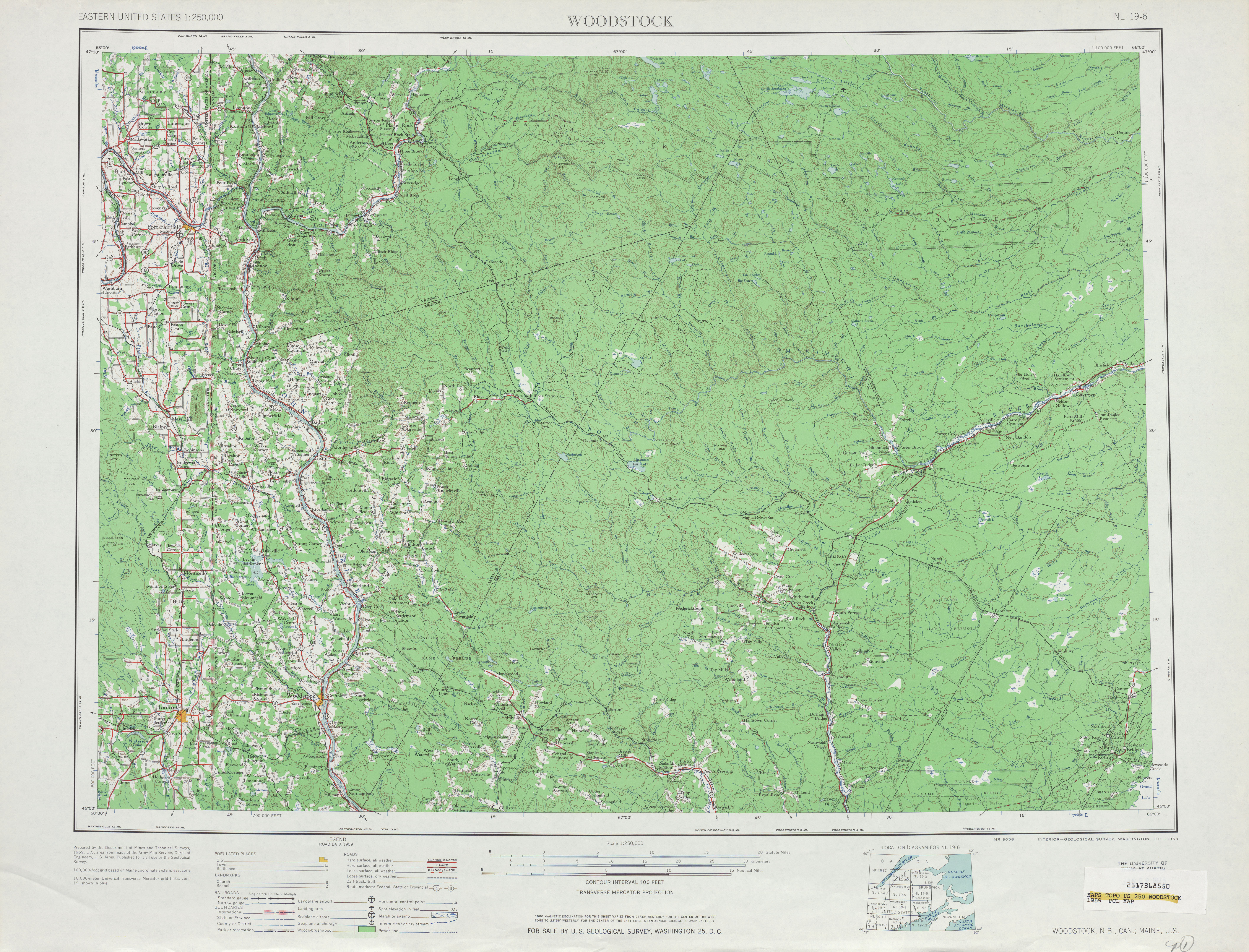 Maps Of Woodstock Topographic Map Sheet United States 1959 Mapa