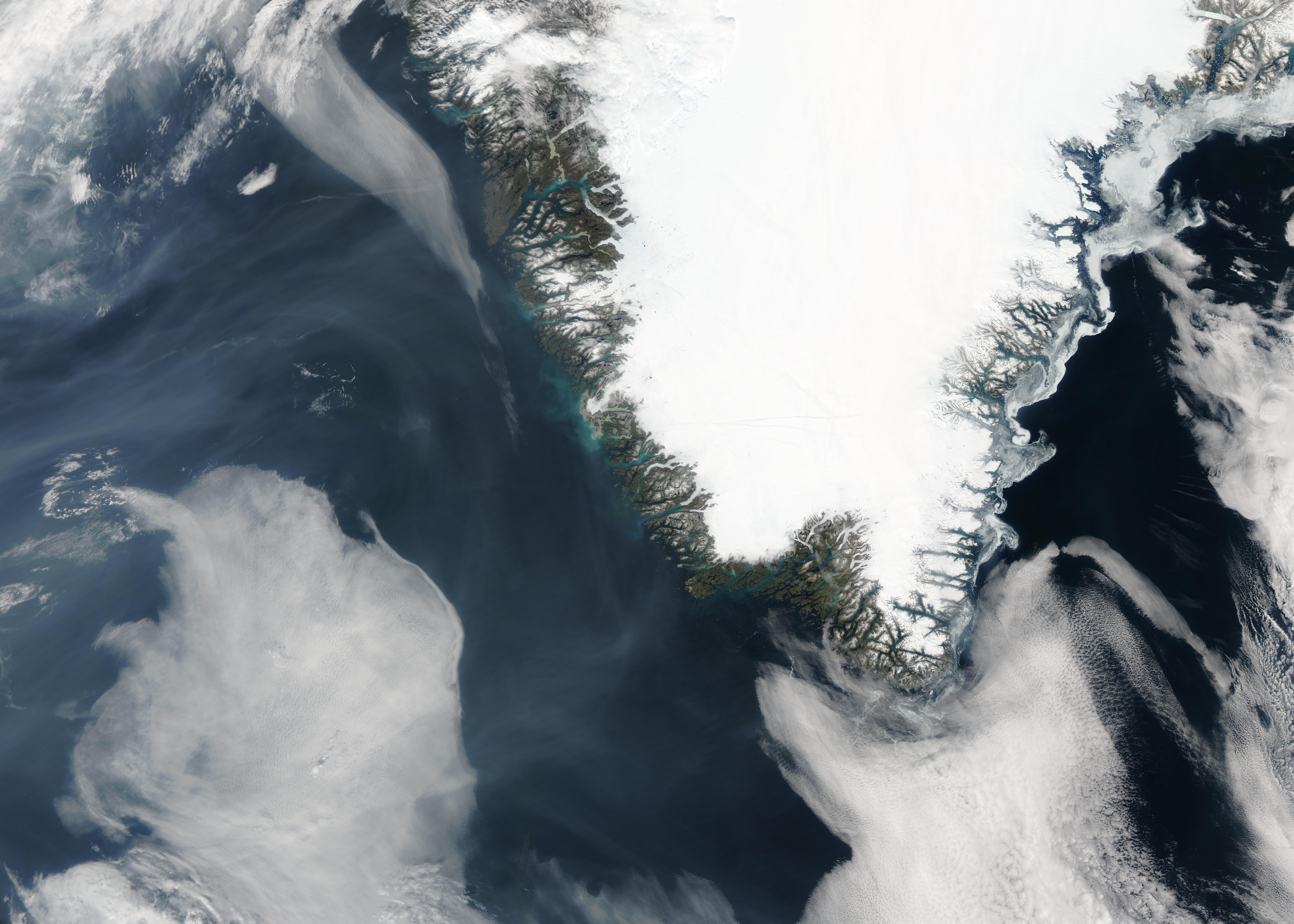 Smoke from Alaskan fires off Greenland