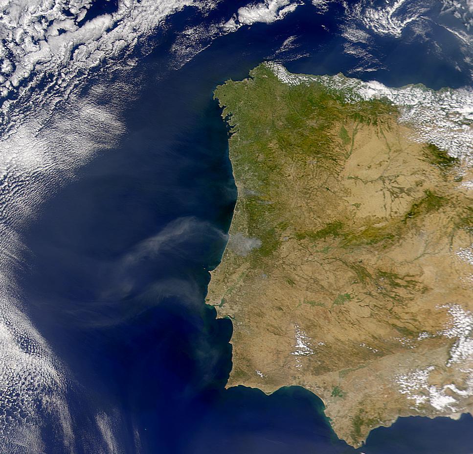 Humo de los incendios en Portugal
