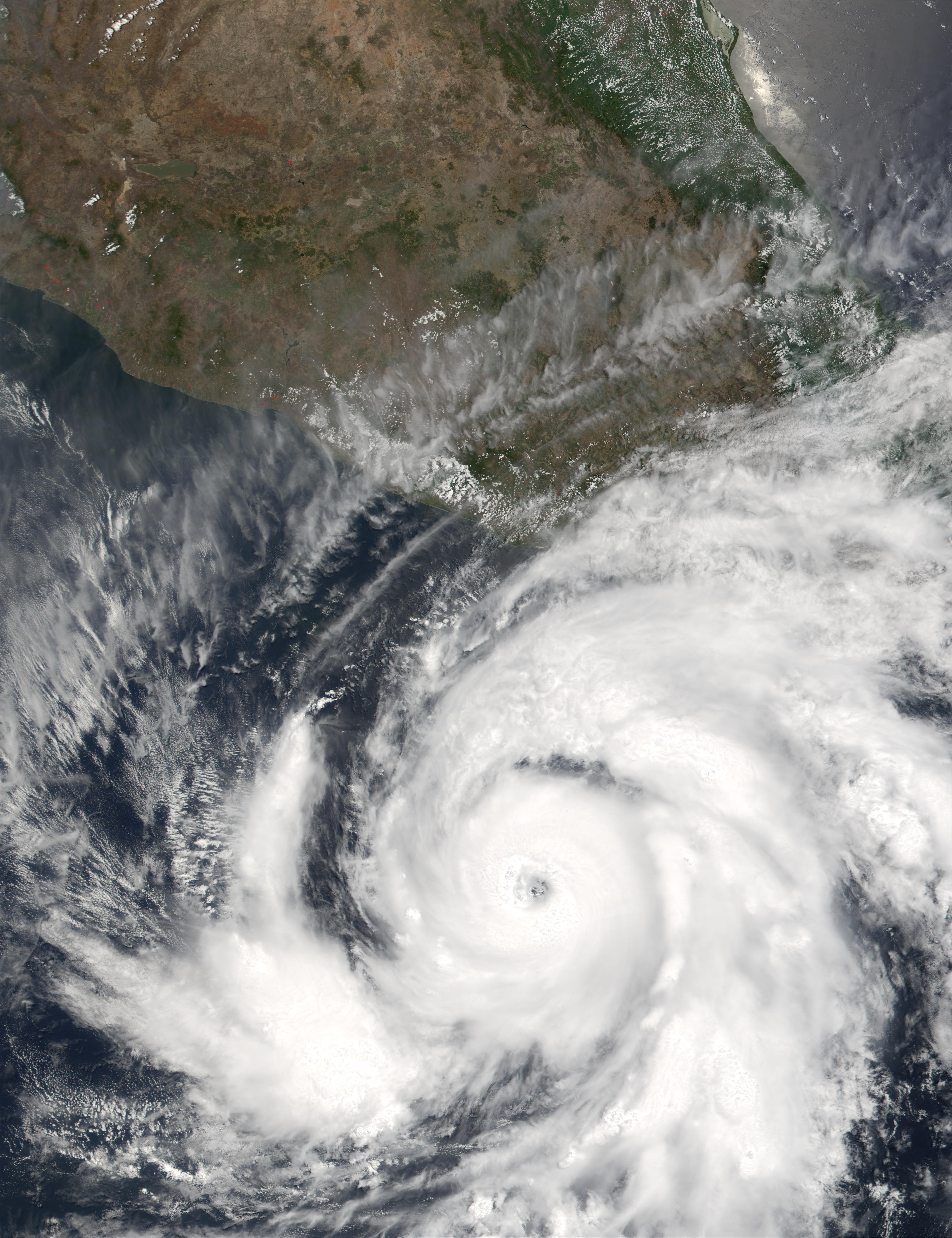 Hurricane Adolph off the coast of Mexico
