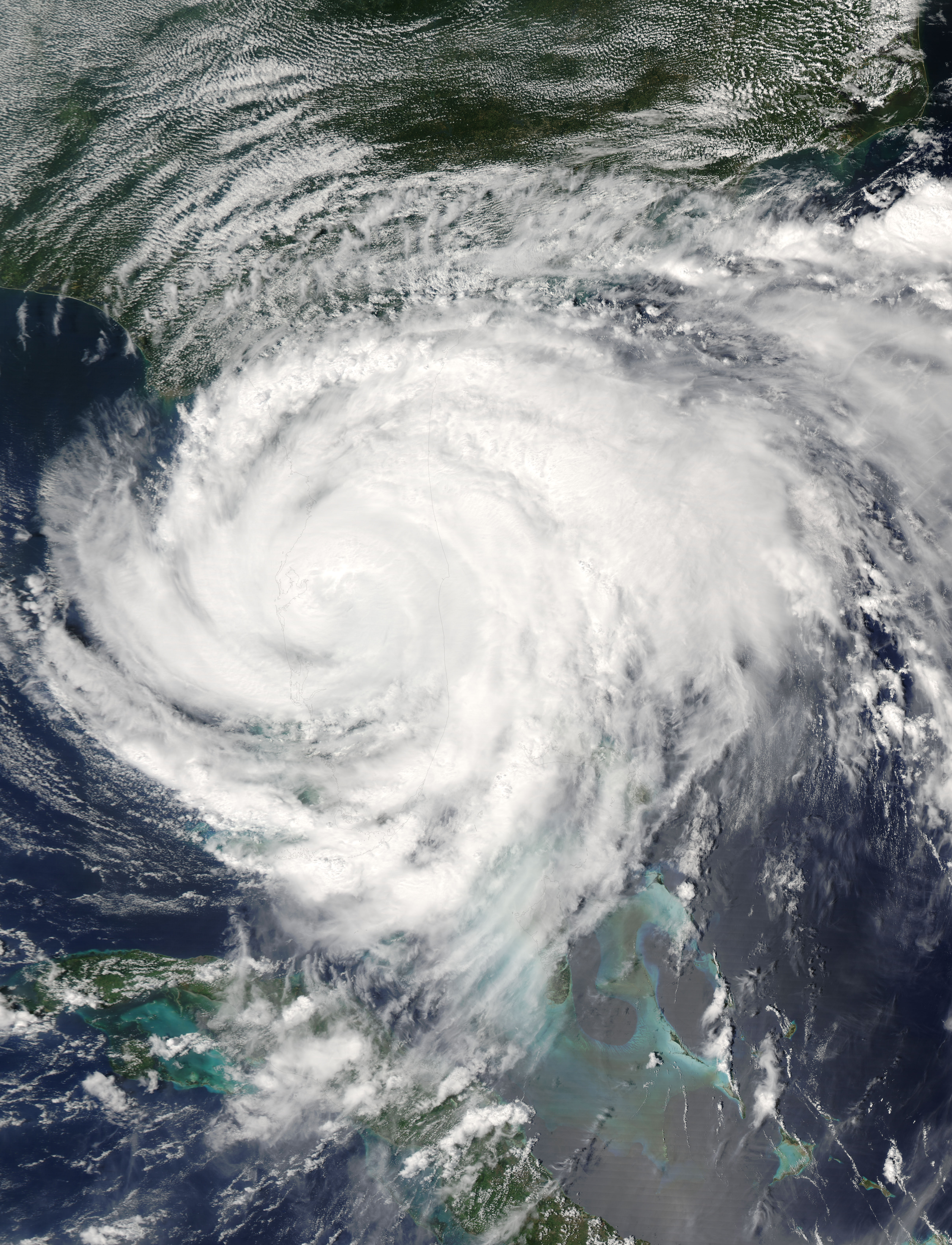 Hurricane Frances (06L) over Florida