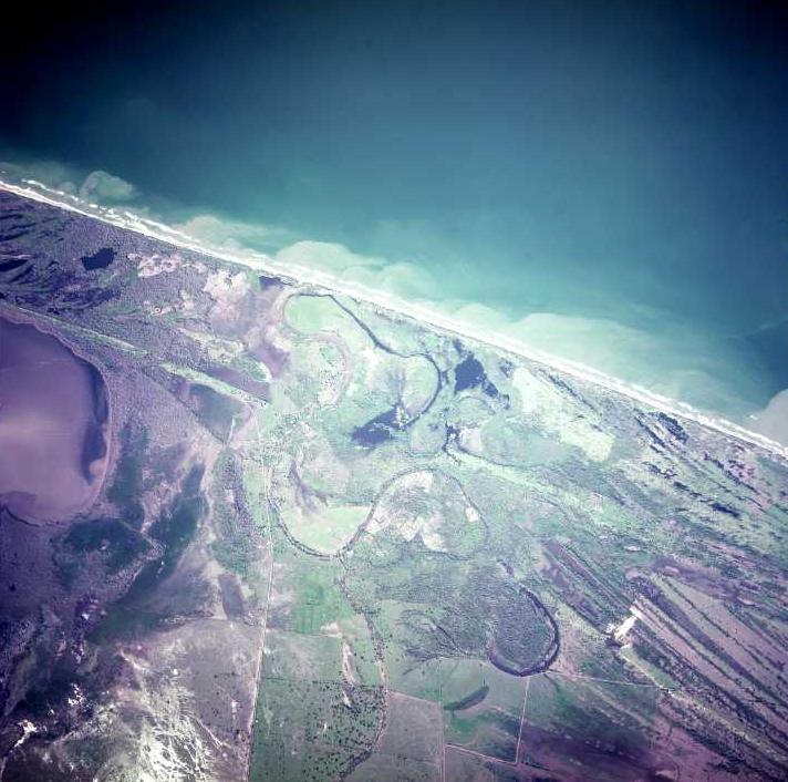 Satellite Image, Photo of Caribbean Sea Coast, Trujillo, Colón Departmento, Honduras