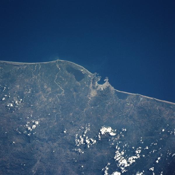 Imagen, Foto Satelite Bahia de Sierra Madre del Sur, Acapulco, Mexico