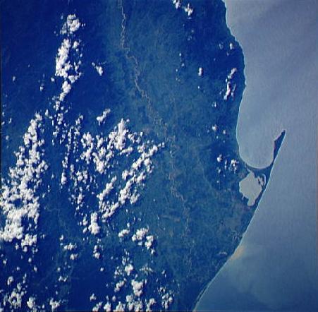 Imagen, Foto Satelite, Bahia de Trujillo, Departamento de Colón, Honduras