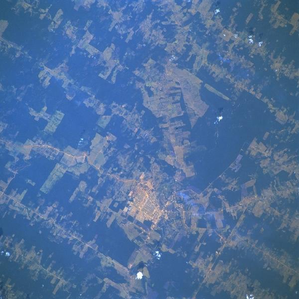 Imagen, Foto Satelite, Ciudad de Ariquemes, Rondônia, Brasil