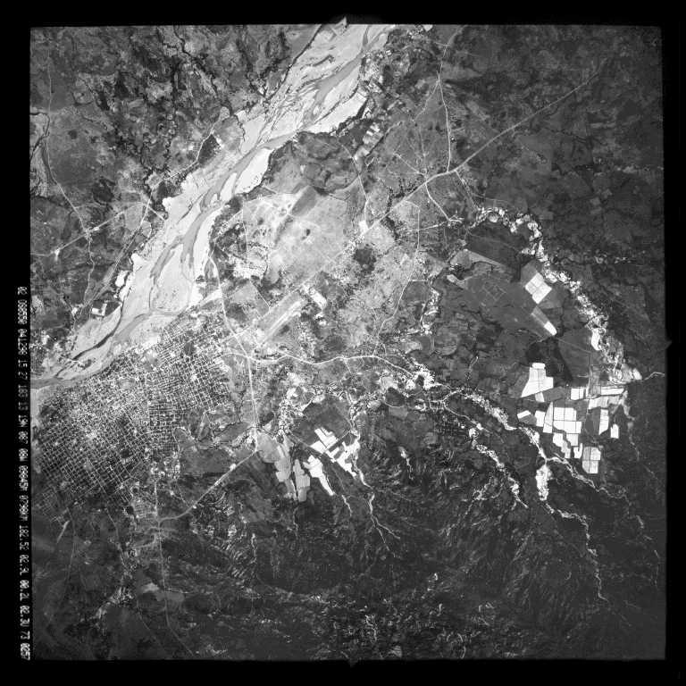 Imagen, Foto Satelite, Ciudad y Rio Choluteca, Honduras