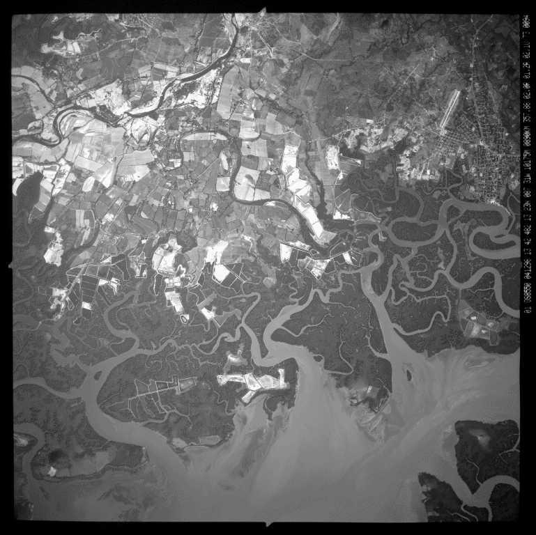 Imagen, Foto Satelite, Golfo de Fonseca, cerca San Lorenzo, Honduras