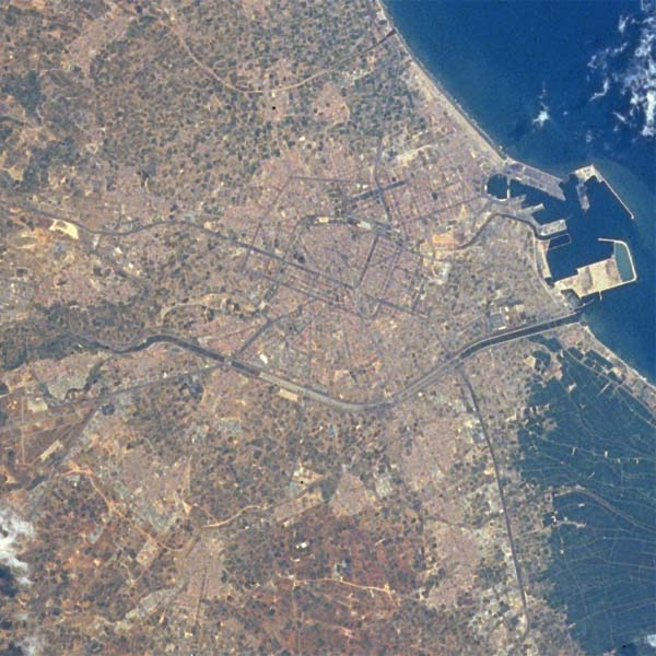 Satellite Image, Photo, Valencia, Spain
