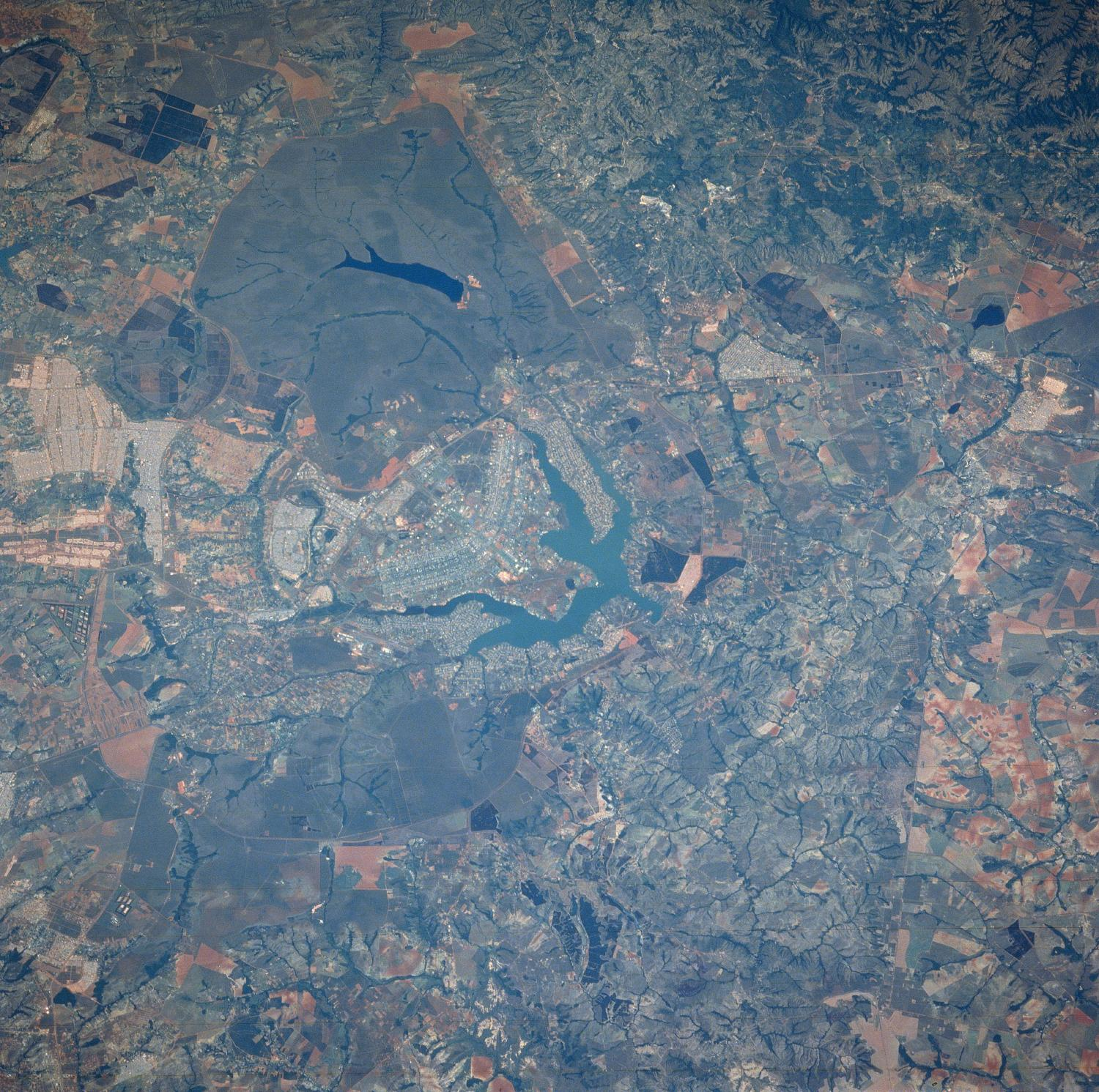 Satellite Image, Photo of Brasilia City, Brazil