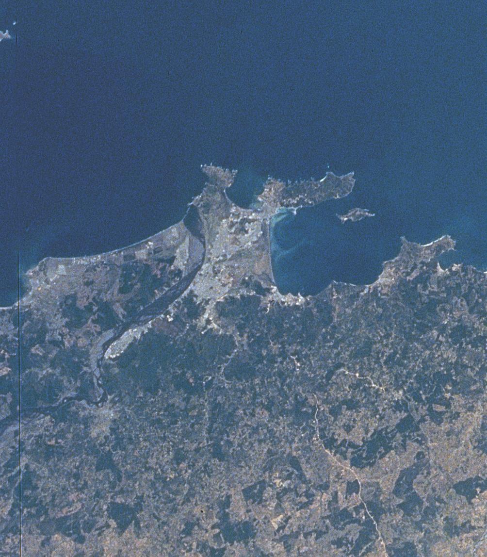 Imagen, Foto Satelite de Ciudad Concepción, Puerto de Talcahuano, Chile