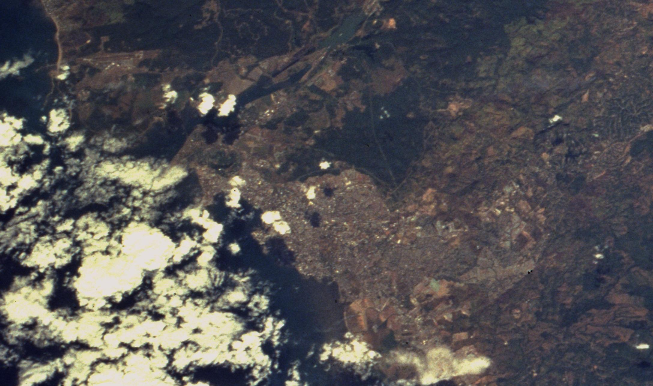 Satellite Image, Photo of Panama City, Panama