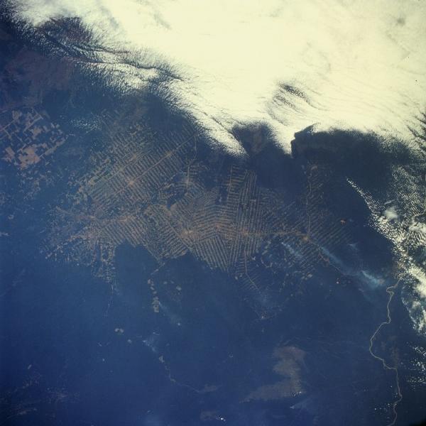 Satellite Image, Photo of Deforestation, State of Rondonia, Brazil