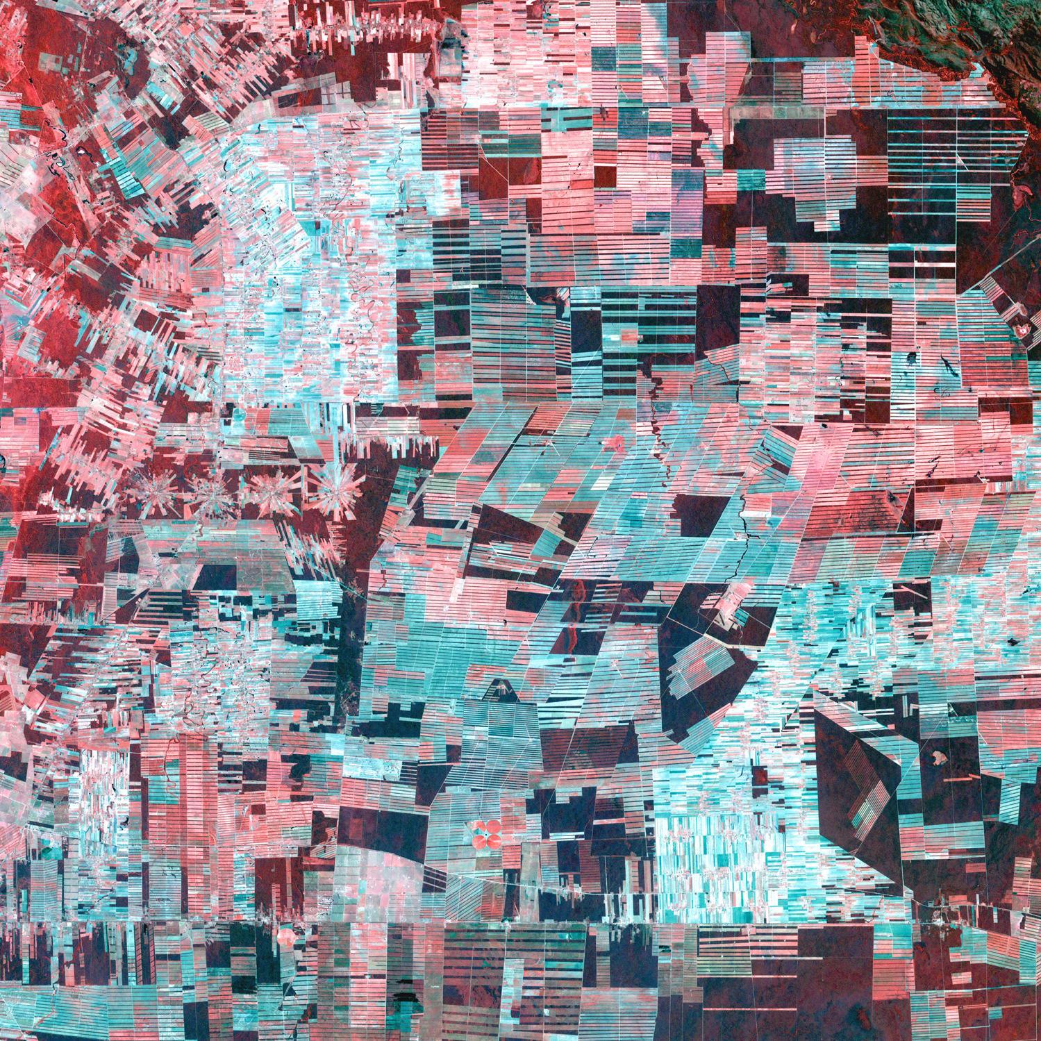 Imagen, Foto Satelite de Deforestación en la Amazonia Boliviana
