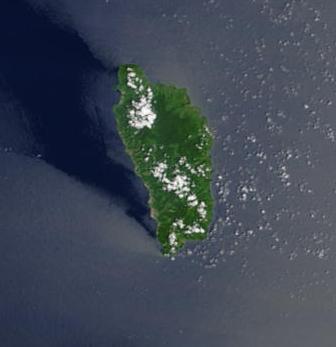 Satellite Image, Photo of Dominica