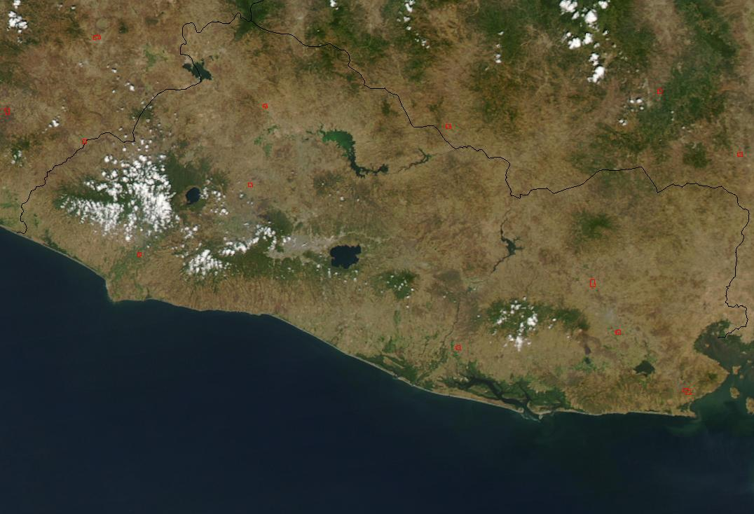 Satellite Image, Photo of El Salvador