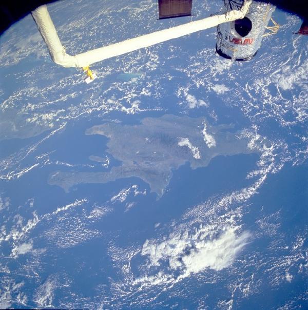 Satellite Image, Photo of Hispaniola (Isla de Santo Domingo)