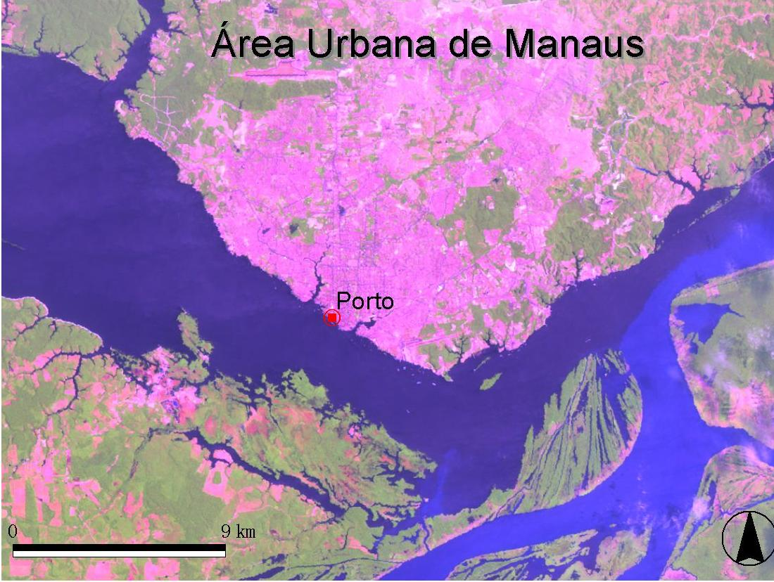 Imagen, Foto Satelite de Manaus, Brasil
