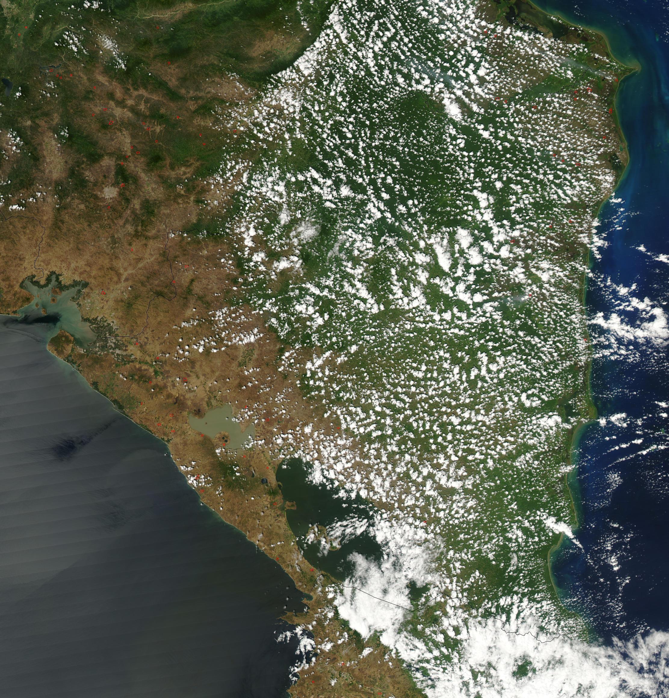 Imagen, Foto Satelite de Nicaragua