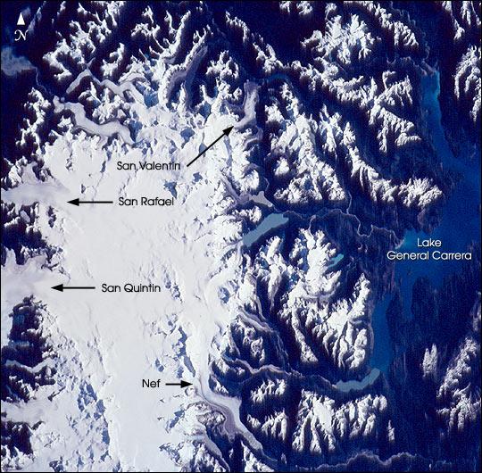 Imagen, Foto Satelite de Patagonia (Norte), Campos de Hielo (NPIF)