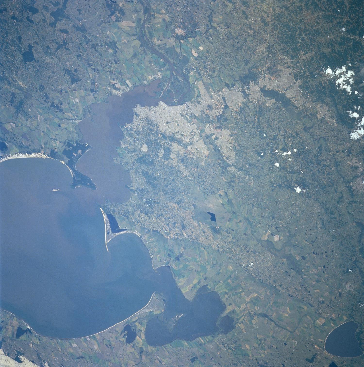 Imagen, Foto Satelite de Porto Alegre, Rio Grande Do Sul, Brasil