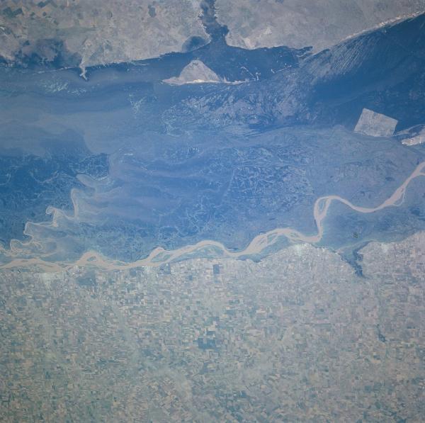 Satellite Image, Photo of Rio Paraná, Argentina