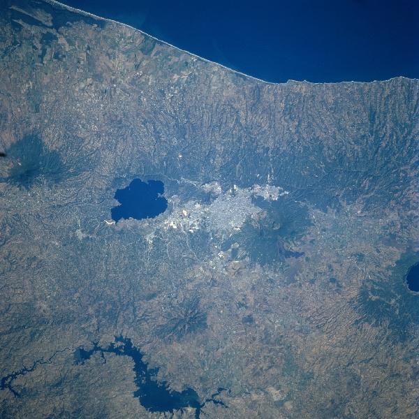 Imagen, Foto Satelite de San Salvador, El Salvador