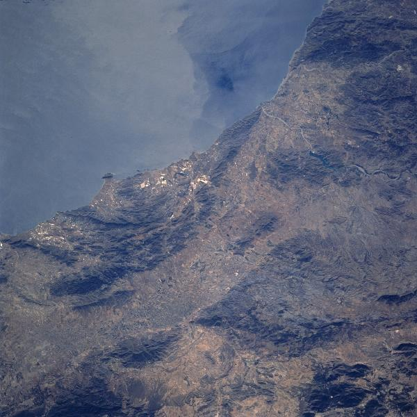 Satellite Image, Photo of Sierra de Almenara, Spain