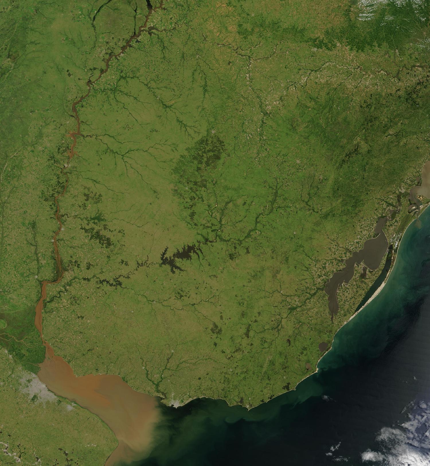 Imagen, Foto Satelite de Uruguay