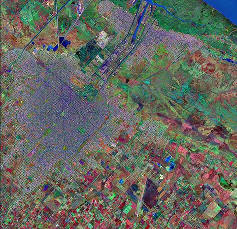 Satellite Image, Photo of La Plata City, Prov. Buenos Aires, Argentina