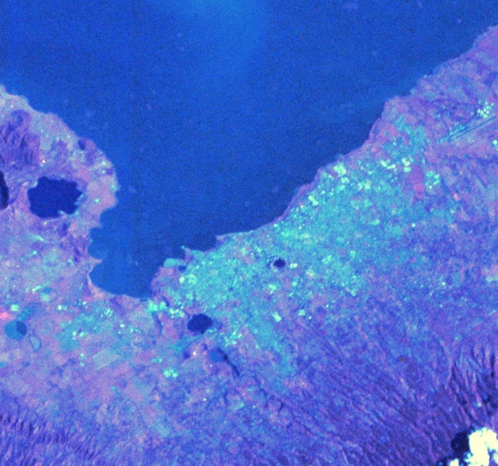 Imagen, Foto Satelite de la Ciudad de Managua, Nicaragua