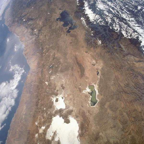 Satellite Image, Photo of Central Andes Mountains, South America