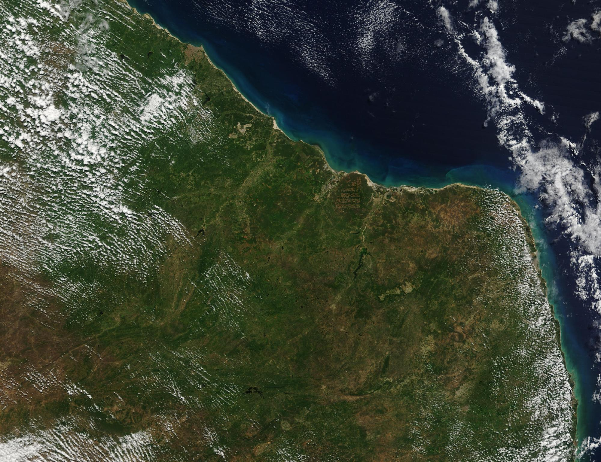 Imagen, Foto Satelite de la Costa Noreste de Brasil