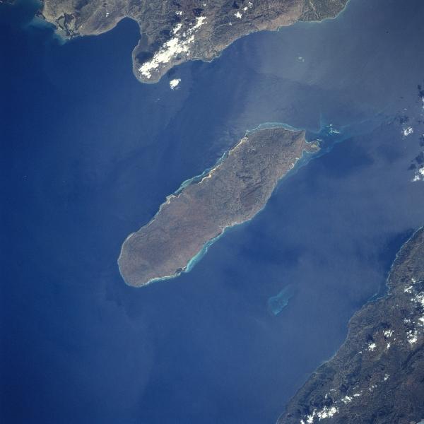 Satellite Image, Photo of Gonave Island, Haiti