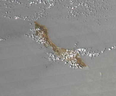 Imagen, Foto Satelite de la Isla de Curacao