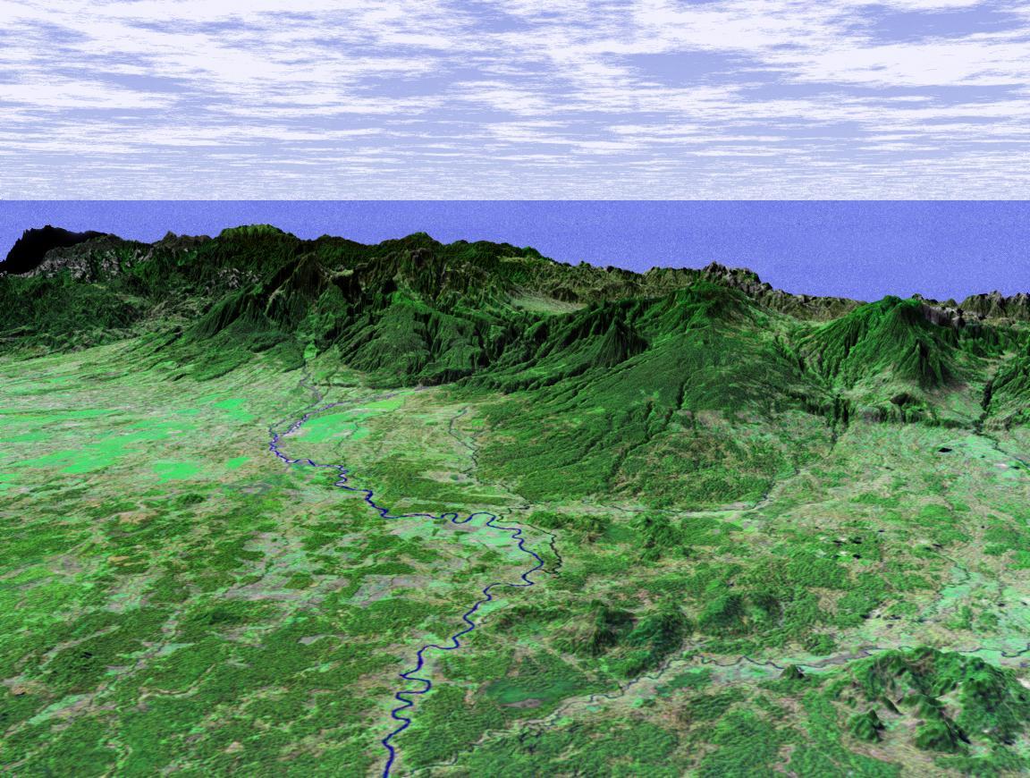 Imagen, Foto Satelite de la Planicie Costera Caribeña de Costa Rica