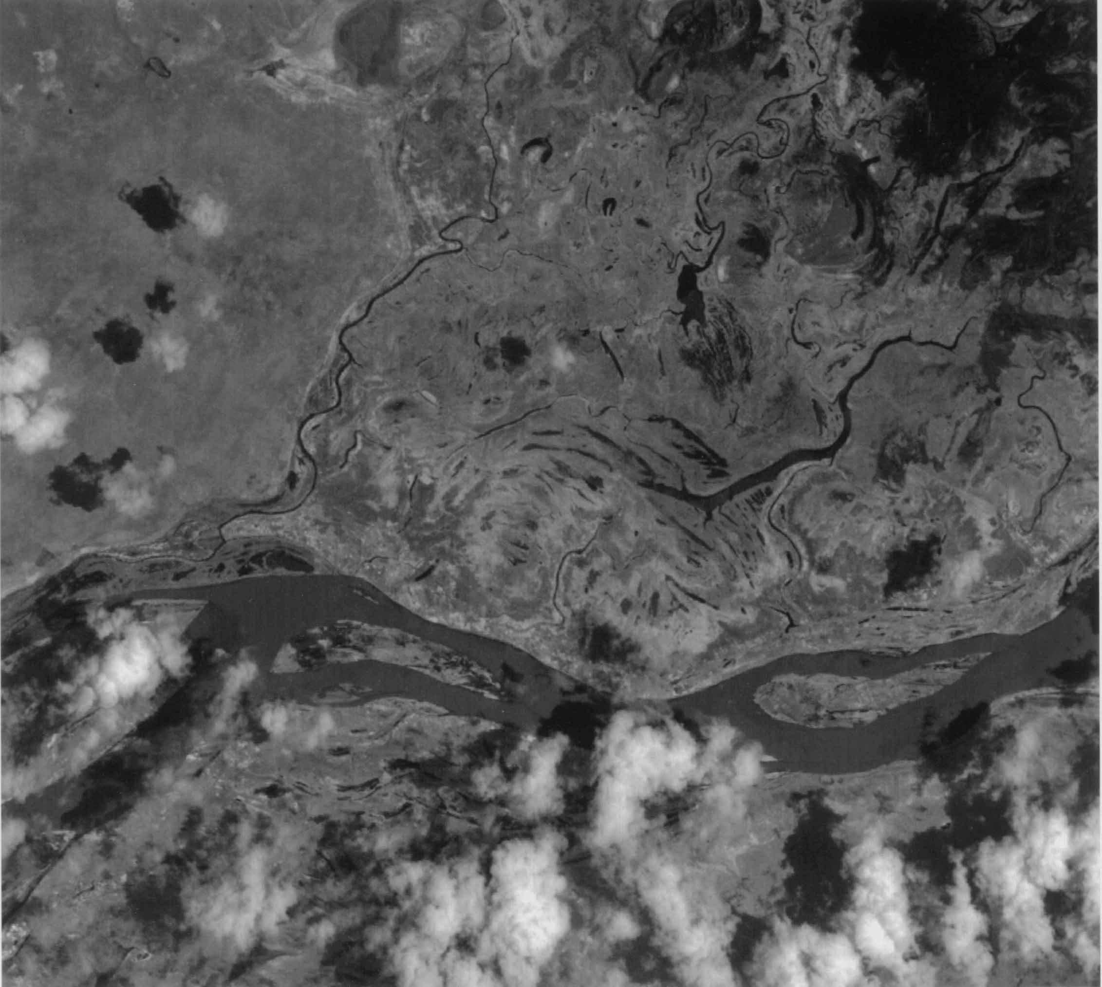 Imagen, Foto Satelite de la Region del Rio Sao Francisco, Brasil