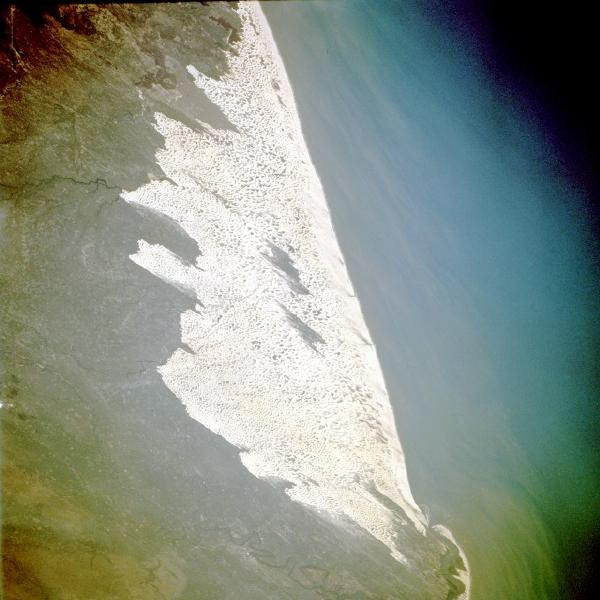 Satellite Image, Photo of Sand Dunes, Maranhão State, Brazil