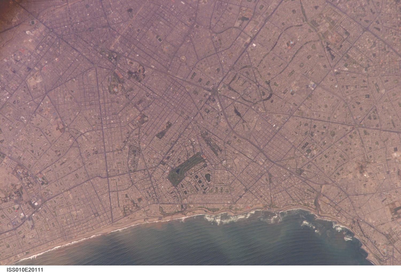 Satellite Image, Photo of Lima Metropolitan Area, Peru