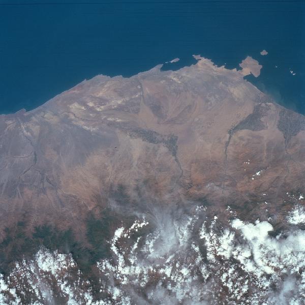 Satellite Image, Photo of Pisco Area, Peru
