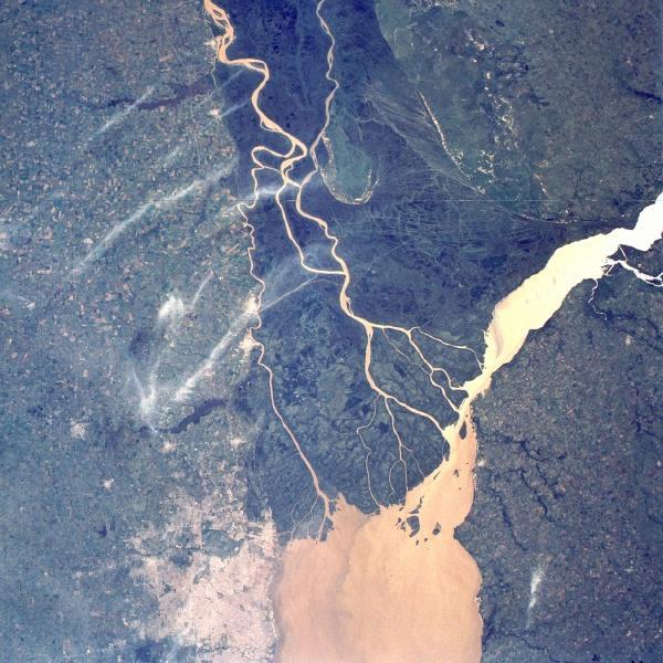 Imagen, Foto Satelite del Delta del Río Paraná, Argentina