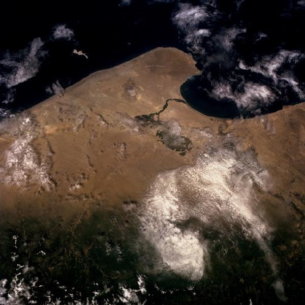 Imagen, Foto Satelite del Desierto Sechura, Peru