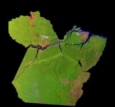 Imagen, Foto Satelite del Estado de Pará, Brasil