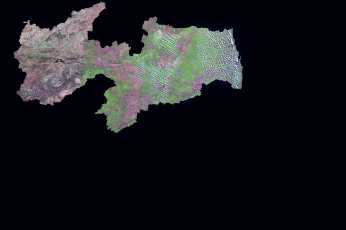 Satellite Image, Photo of Paraíba State, Brazil