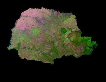 Imagen, Foto Satelite del Estado de Paraná, Brasil