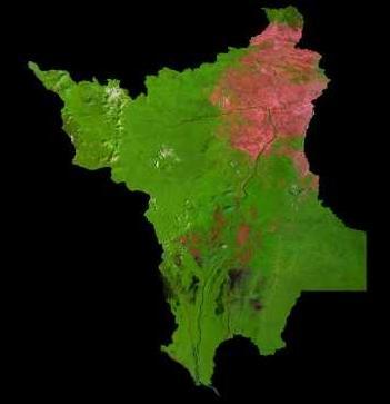Imagen, Foto Satelite del Estado de Roraima, Brasil