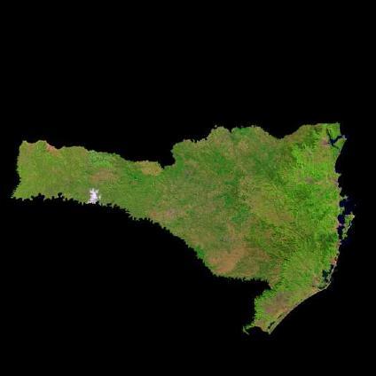 Satellite Image, Photo of Santa Catarina State, Brazil