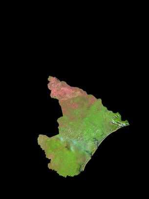 Imagen, Foto Satelite del Estado de Sergipe, Brasil