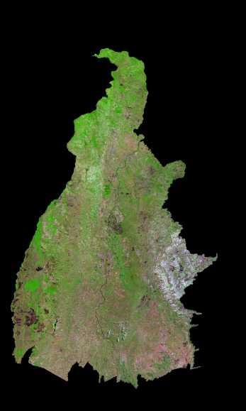 Imagen, Foto Satelite del Estado de Tocantins, Brasil