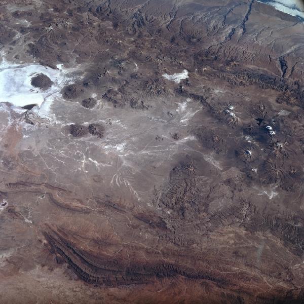 Satellite Image, Photo of Lake Coipasa (Salt Flat), Bolivia