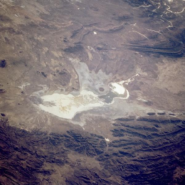 Imagen, Foto Satelite del Lago Poopó, Bolivia